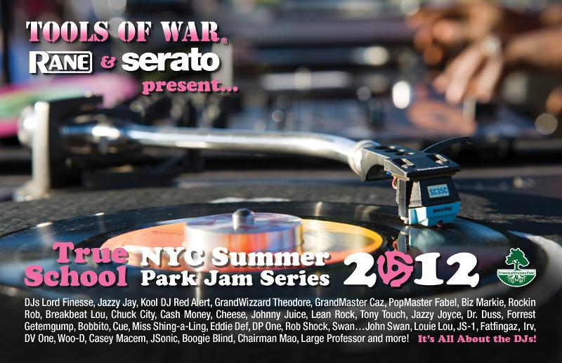 2012 Tools of War NYC Summer Park Jam Series front