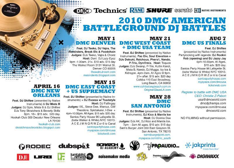 2010 DMC  USA Tour  flyer by Martin X