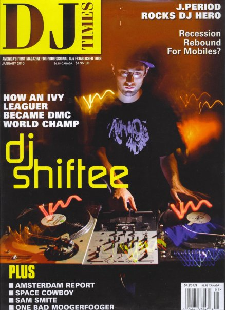 DJ Shiftee on the cover of DJ Times Jan. 2010